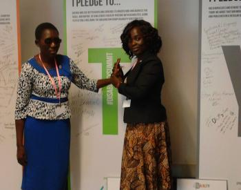 Catherine Uteka and Martha Momba from VIHEMA Deafblind Malawi
