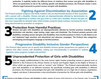 Display of the page 1 of our advocacy tool on the AU Protocol, with 5 key points.