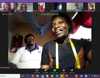 Zoom meeting with KEFEADO, WCC, COVAW, MUDIWA and MIW to discuss reusable masks